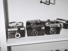 Cameras (2) (Matthew Paul Argall) Tags: hanimex110if fixedfocus 110 110film subminiaturefilm lomographyfilm 100isofilm blackandwhite blackandwhitefilm camera cameras