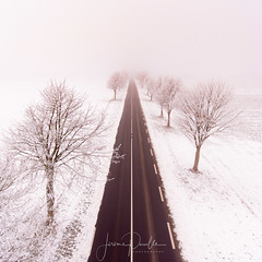 Snow road (jeje62) Tags: road snow winter cold trees landscape drone dronestagram droneshoot dji phantom phantom4 aerialphotography aérien pasdecalais route neige froid hiver