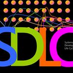 Systems Development Life Cycle, SDLC, blue, green, orange, pink, suns, lines, illustration thumbnail