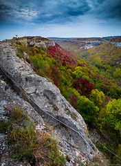 Fortress (@Dpalichorov) Tags: fortress mountainside mountain landscape sky grass rock tree nature tower forest trees nikond3200 nikon d3200 panorama wide angle wideangle clouds bad weather badweather bulgaria provadia българия провадия stairs view
