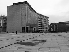 Cité Administrative (Spotmatix) Tags: 1445mm architecture belgium brussels camera effects gx7 landscape lens lumix monochrome places recent street streetphotography urban zoomstd