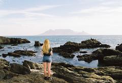 Blue Mountain (DawnChapman) Tags: 35mm analog film filmphotography travel fuji fujicolorsuperia200 superia200 landscape ocean mountain bloubergstrand tablemountain capetown southafrica africa