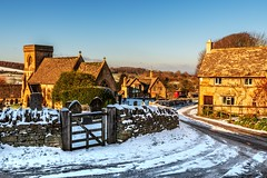 SNOWSHILL IN THE SNOW (Tony Armstrong-Sly) Tags: snowshill cotswoldvillages snowshillinthesnow snowinthecotswolds britishvillages broadway villageinthesnow snow winter nature chorch
