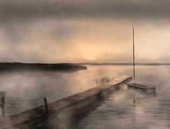 Steg (ricardoo89) Tags: waterscapes harbor sailboat fog landingstage water boat wasserlandschaft hafen anlegestelle boot segelboot nebel wasser