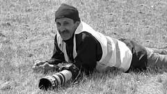 Moi (Laurent Quérité) Tags: canonfrance spotter meetingaérien airshow portrait noirblanc blackwhite ba701 salondeprovence france homme man