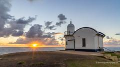 Sunrise - 6 Feb 2019 #3/8 (Peter.Stokes) Tags: australia australian beach clouds coast coastline colour colourphotography landscape lighthouse morning nsw newsouthwales ocean outdoors photo portmacquarie saltwater sea skies sky skyscenes summer sunrise light