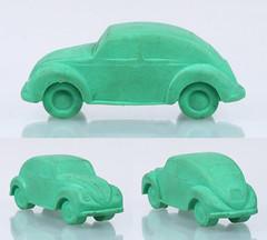 MIG-Läfer-VW-green (adrianz toyz) Tags: toy model car adrianztoyz vw volkswagen beetle käfer west germany brd rubber aircooled eraser