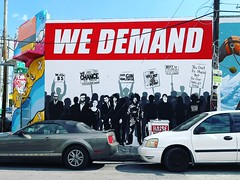 Wynwood Walls | We Demand (Toni Kaarttinen) Tags: usa unitedstates florida wpb america miami miamidade wall graffiti stencil streetart art wynwood walls wynwoodwalls demand