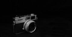 Canon Canonet 28 (tpeters2600) Tags: canon eos7d tamronspaf1024mmf3545diiildasphericalif canonspeedlight430exii blackandwhite monochrome closeup camera film rangefinder canonet28 stilllife