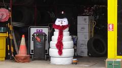 0342 Schneemann bei Reifenhändler - tyre-snowman; in Streaky Bay (roving_spirits) Tags: australia australien australie southaustralia eyrepeninsula