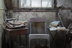...musical chair... (Art in Entropy) Tags: abandoned house photography urbex urban decay explore exploration adventure chair record player books room window light sony