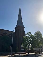 2019 Sydney: Marrickville Road Church (dominotic) Tags: 2019 marrickvilleroadchurch stclementschurchmarrickville iphone8 innerwestsydney bluesky trees urban history architecture sydney australia