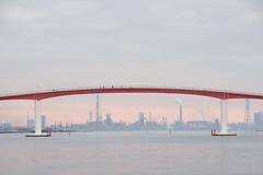 中の島大橋 Nakanoshima Ohashi Bridge (ELCAN KE-7A) Tags: 日本 japan 千葉 chiba 木更津 kisarazu 中の島大橋 nakanoshima bridge ペンタックス pentax k3ⅱ 2019 sea 海