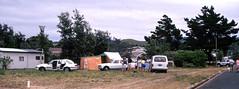 Camping  Whangamata  Jan 1st 1990 (D70) Tags: camping whangamata jan1st 1990 family waikato newzealand peugeot504 stationwagon toyota van hondaaccord