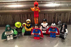 Spectre, Atomic Skull, Booster Gold, Superman, Dr. Light, Bizarro, Lobo and Firestorm (bricksfreaks) Tags: dc dccomics lego custom comics customminifigures customlego customfigures figures minifigures minifigs bricksfreaks bricks freaks superheroes supervillains spectre boostergold superman bizarro firestorm lobo mainman doctorlight drlight atomicskull kryptonite