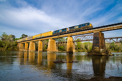 (i nikon) Tags: csx congaree river bridge columbia cayce sc train