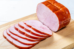 Delicious sliced ham on the kitchen Board (wuestenigel) Tags: gastronomy sausage smoked cut slice appetizer roasted background dinner board ham cooked meal traditional whole wooden delicatessen culinary breakfast meat healthy cold gourmet bacon sliced food snack ingredient pork pink closeup delicious close piece fresh spices tasty white