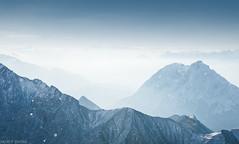 Wetterstein (Andrey Baydak) Tags: wetterstein wettersteingebirge gletscher glacier summit peak gipfel zugspitze zugspitzplatt alps alpen mountains silhouette contrejour snow berge berg cold ice elevation 28300 climbing bavaria bayern altitude swabia schwaben