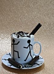 2019 Sydney: Coffee + Wafer Biscuit (dominotic) Tags: 2019 food walkingmancoffeemugandsaucer biscuit viennacoffee yᑌᗰᗰy coffeeobsession whippedcream sydney australia