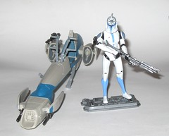 barc speeder bike with clone trooper jesse star wars the clone wars blue black packaging vehicle and figure 2010 hasbro c (tjparkside) Tags: barc speeder bike with clone trooper jesse star wars 2010 hasbro black blue packaging basic action figure figures vehicle vehicles clones troopers blaster blasters rifle rifles phase 1 i bikes speeders galactic battle game stand silver display base general grievous saleucami biker advanced recon commando commandos 501st white
