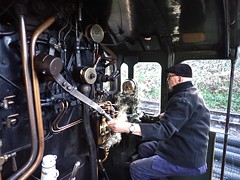 Great Central Railway Loughborough Leicestershire 10th March 2019 (loose_grip_99) Tags: greatcentral railway railroad rail train rothley cab footplate greatwestern gwr gcr modified hall 460 6990 witherslackhall leicestershire eastmidlands england uk steam engine locomotive gassteam uksteam trains railways march 2019