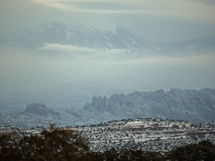 Hwy 313 View Point View (xjblue) Tags: 2019 newyearsweekend southernutah utah canyon canyonlands cold desert governmentshutdown sandstone snow trip winter landscape clouds mountain lasalmountains moab rim behindtherocks