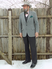 3-11-2019 Today's Clothes (Michael A2012) Tags: this mans winter style vintage fashion wormser 10 star fedora hat fur felt kilgour french stanbury camel hair eddie doherty handwoven donegal tweed jos a bank bowtie steve madden chukka boot lands end