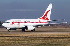 "SXB ➡️ TS-IOP Boeing 737-600 TunisAir ""70th Anniversary"" (Retro c/s) (Stephane GolfTraveller) Tags: strasbourg entzheim lfst sxb aeroport airport planespotting ©stephanegolftraveller tsiop boeing 737600 tunisair 70thanniversary retro 737 canon panning sky plane winter"