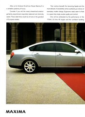 2004 Nissan Maxima A34 Page 1 Aussie Magazine Advertisement (Darren Marlow) Tags: 2 3 4 20 2004 n nissan m maxima a 34 a34 s sedan c car cool collectible collectors classic automobile vehicle v j jap japan japanese asian asia 00s