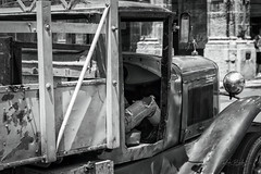 Havana Work Truck (RickBaileyPhoto) Tags: bw rickbailey blackandwhite cuba havana truck classic