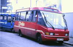 Slide 127-66 (Steve Guess) Tags: london transport buses minibus chelsea england gb uk ov optare citypacer vw routec3 d356jum