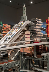 Metropolis II by Chris Burden - LACMA (ChrisGoldNY) Tags: sonya7rii sonyimages sonyalpha forsale licensing chrisgoldberg chrisgoldny chrisgoldphoto bookcover albumcover lacma losangeles california socal cali losangelescounty museum art exhibits museums