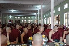 Buddhist monks at Maha Ganayon Kuang monastery in Amarapura, Mandalay region (4) (Prof. Mortel) Tags: myanmar burma amarapura buddhist monks
