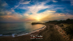 Sunrise in the Alt Empordà (PepinAir) Tags: lescala catalunya españa es landscape sunset sun sundown sea catalonia photodrone