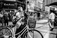 Osaka - Namba Ebisubashi (-dow-) Tags: 大阪 日本 namba ebisubashi osaka japan giappone bicicletta bike bicycle monochrome fujifilm x70