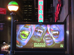 What We Do in the Shadows Billboard Poster Ad 2703 (Brechtbug) Tags: what we do shadows billboard poster ad over subway entrance american comedy horror television series fx march 27th 2019 channel starring kayvan novak matt berry natasia demetriou harvey guillen based 2014 film by jemaine clement taika waititi about three vampires who have been roommates for hundreds years ads advertisement tv show