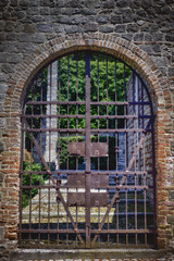 Medieval Lockup (Amanda J Richards) Tags: gate iron old medieval garden wall stone entrance locked