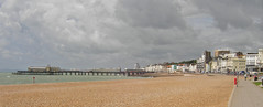 Stormy Skies of Hastings (big_jeff_leo) Tags: england pier beach scene sand town view sky sea seaside sussex