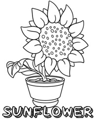 Sunflower coloring page to print (Lastfreelogin) Tags: flowers sunflower coloring colouring printables