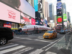 2019 Celebration of Retro TWA Hotel - Wingless Plane Times Square 4506 (Brechtbug) Tags: 2019 celebration retro twa hotel brooklyn wingless 1958 lockheed constellation connie l1649a starliner airplane visits times square before heading trans world airlines new yorks john f kennedy international airport known york anderson field commonly idlewild city march 23rd nyc 02232019