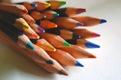 United colors Pencils #ThroughHerLens (7 Blue Nights) Tags: pencils lookingcloseonfriday color colour colours colors throughherlens explore macro sony blue green red yellow orange rx10 purple dof
