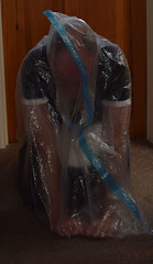 Image1 (steph plastic) Tags: pvc fetish longdress shiny palstic maidsdress