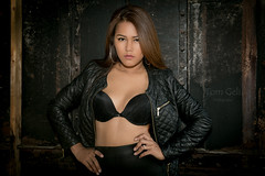 Emi (TomGeli) Tags: world europe light outside photography people dark 6d germany girl hair canon available availablelight nature naturallight model beauty beautiful leder leather