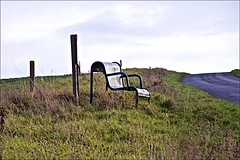 Lonely Seat on Trundlegate (brianarchie65) Tags: dalecottage trundlegate northnewbold seat bikes riders cyclists hills houses sky eastriding eastyorkshire signs hedges grass posts fields canoneos600d geotagged brianarchie65 unlimitedphotos ngc flickrunofficial flickr flickruk flickrcentral flickrinternational ukflickr