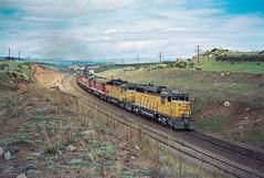 Sherman Hill Meet (1/4) (Brandon R. Smith) Tags: burlington gp30 locomotive overlandroute railroad shermanhill train unionpacific wyoming