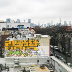 the haves and the have nots (thefoodtool) Tags: streetphotography graffiti skyline queens newyork nyc