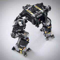 More WIP photos of new mech (Goth Bricks 2000) Tags: lego legomoc legomech legomecha mech mecha legoscifi scifi legorobot robot legomilitary