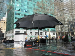 2019 Big Umbrella Academy in Bryant Park NYC 1324 (Brechtbug) Tags: big umbrella bryant park nyc 2019 february 02132019 new york city 6th avenue near 42nd st behind public library midtown manhattan the academy netflix tv series comic book based starting friday 15th bumbershoot umbrellas