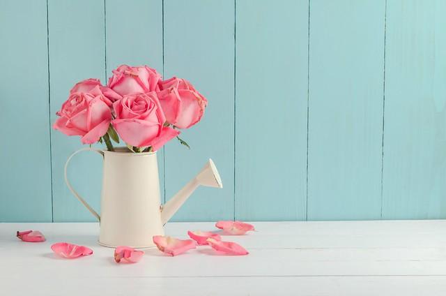 Обои цветы, розы, букет, лепестки, розовые, бутоны, fresh, pink, flowers, beautiful, petals, roses картинки на рабочий стол, раздел цветы - скачать