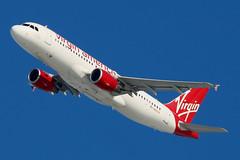 "N851VA   Airbus A320-214   Virgin America ""Friends of Arjay Miller"" (cv880m) Tags: newyork jfk kjfk kennedy aviation airliner airline aircraft airplane jetliner airport n851va airbus a320 320200 320214 virgin virginamerica alaska friendsofarjaymiller"